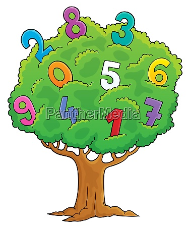 tree with numbers theme image 1