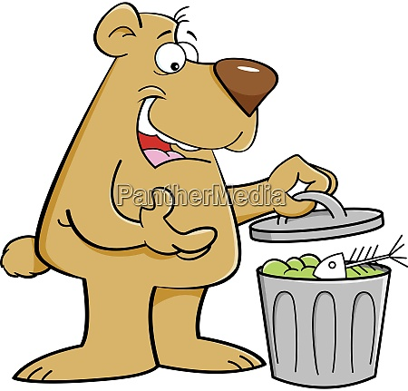 cartoon illustration of a bear looking