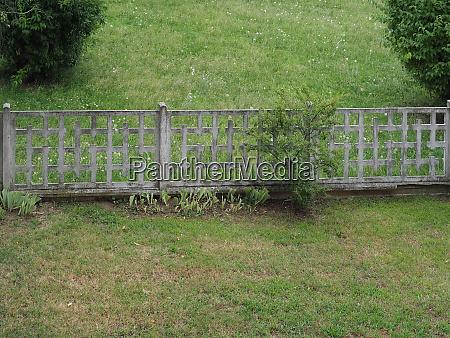 concrete garden fence