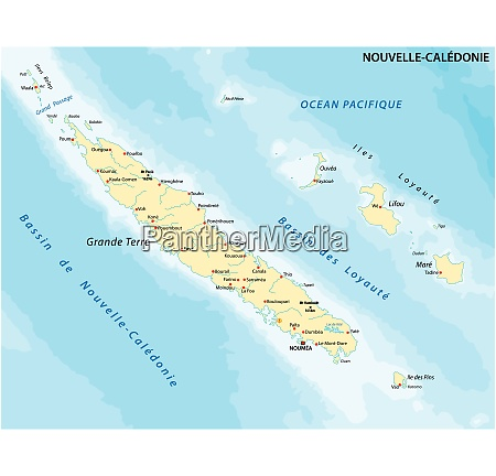 map new caledonia is the frenchowned