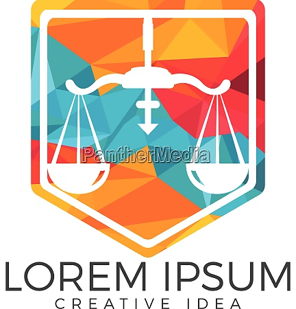 law scale or balance vector logo