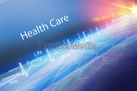 abstract health care background concept series