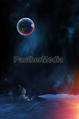 celestial digital art earth plant from