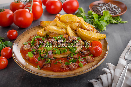 chicken steak with herbs homemade french