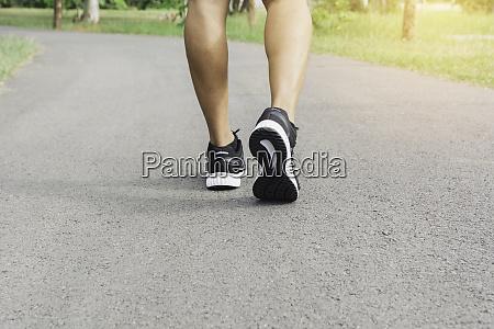 a man running at the morning