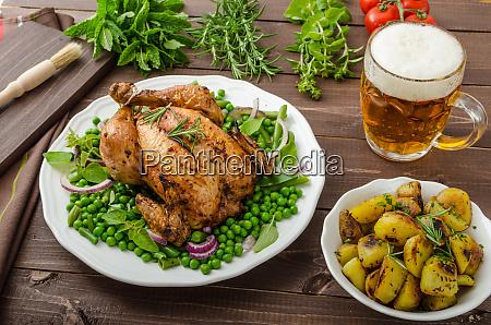 grilled organic bio chicken