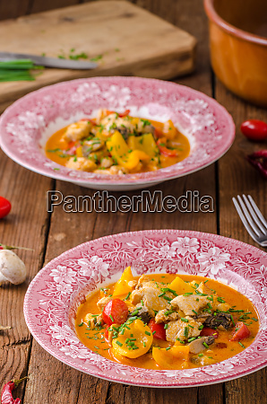 chicken curry vegetable delish food