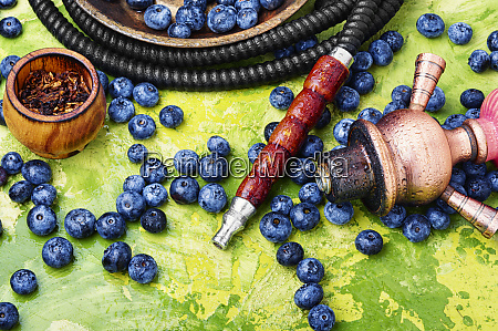 tobacco hookah with bilberry