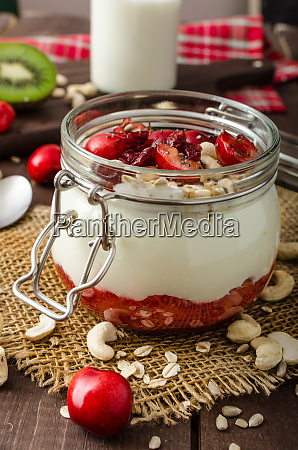domestic cherry yogurt with wonder chia