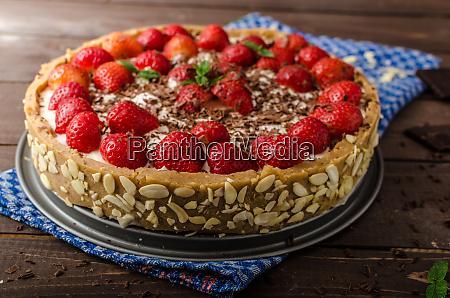 summer strawberry cheesecake