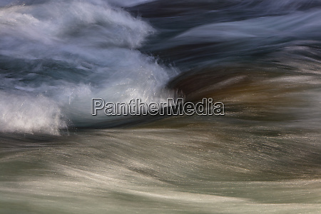 long exposure abstract of flowing river