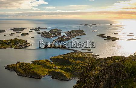 henningsvaer on lofoten islands with sheltered
