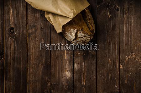 homemade bread on wood board