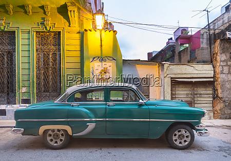 parked vintage car havana cuba