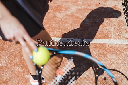 close up of female tennis player