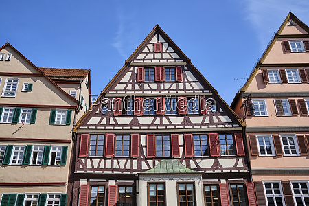 timber framed house in the old