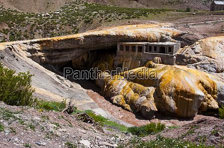 inca bridge near mendoza argentina south