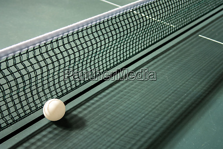 table tennis with ball net and