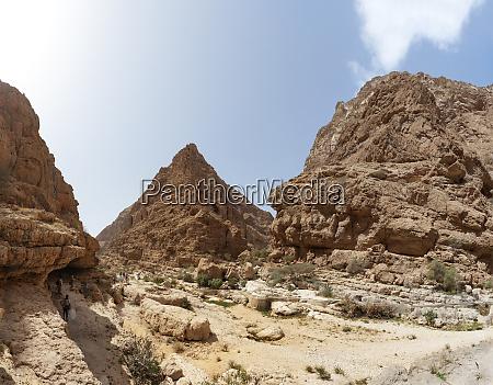 rock face at wadi shab oman