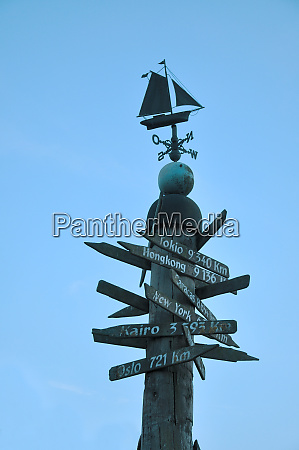 signpost weather vane