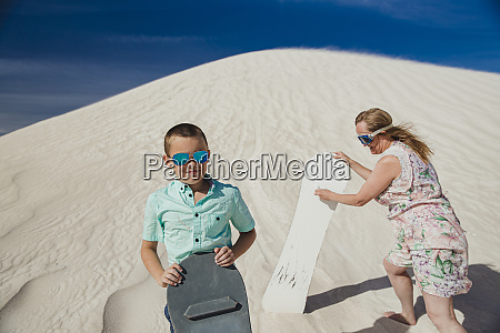 sand boarding with mum