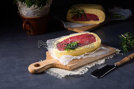 steaks matured in butter refined with