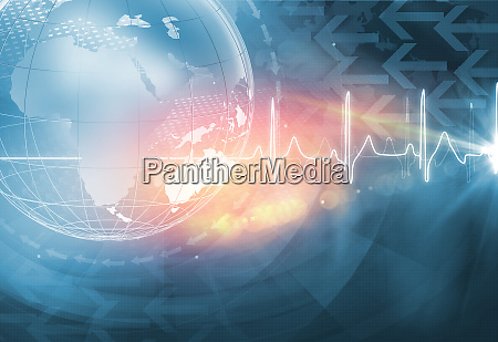 global health news background concept series