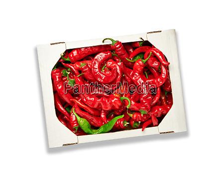 ripe red hot pepper in a