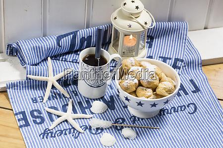 tea time still life with cream