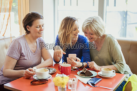 mature female friends bonding