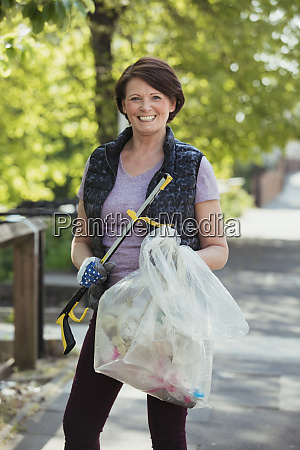female city cleaner portrait