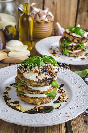 mozzarella eggplant vegetarian dish