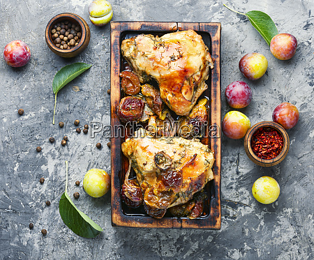 grilled chicken with plum