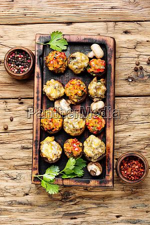 mushrooms stuffed with vegetables