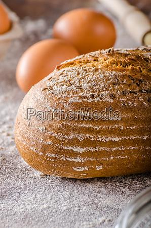 homemade sourdough bread rustic