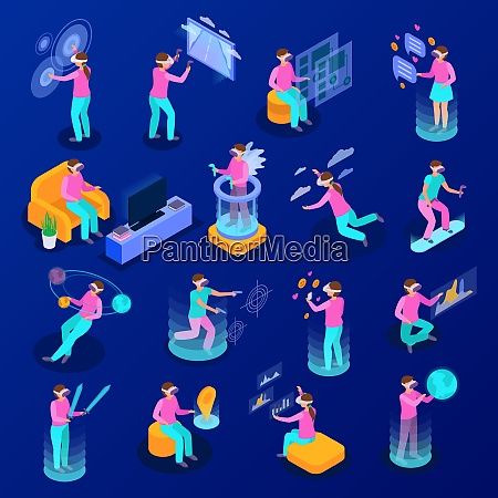 big set of isometric icons with