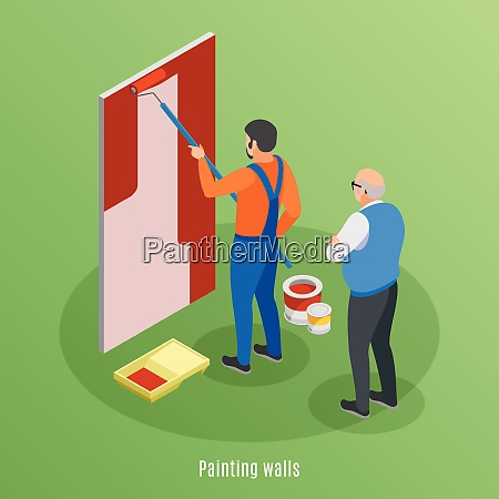 home repair isometric design concept with