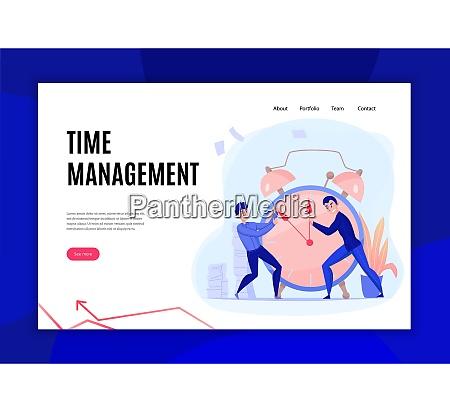 time management deadline concept flat website