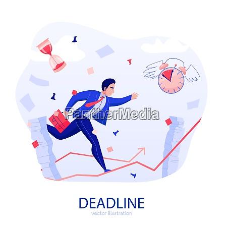 time management deadline stress flat composition