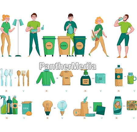 zero waste protecting environment collecting sorting