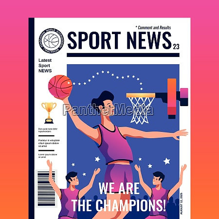 sport news magazine color cover with