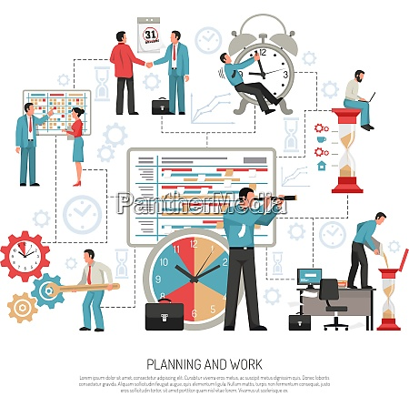 planning schedule and work at office