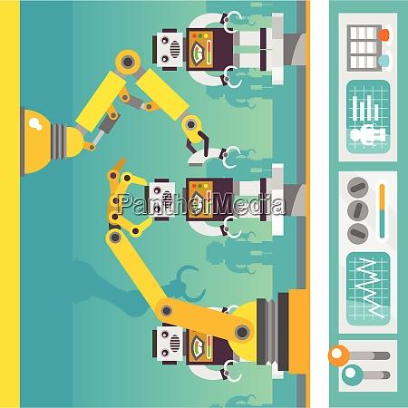 robotic arm mechanic equipment assembling