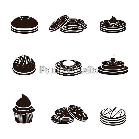 sweet sugar tasty food cookies black