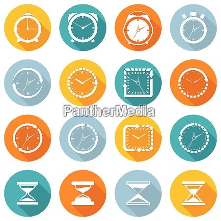 alarm clock old sand watch stopwatch
