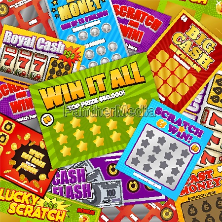 lottery colorful background design with lucky