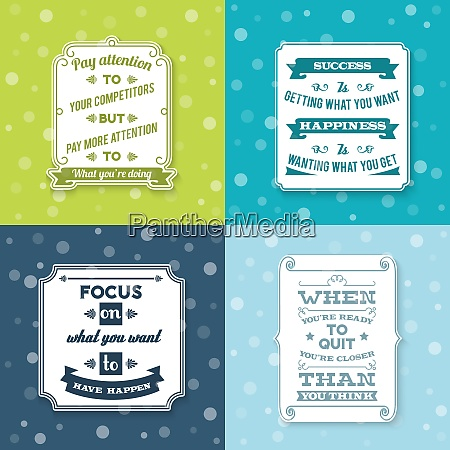success creative wise sentence white labels