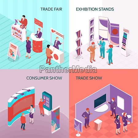 exhibition stands used at trade fair