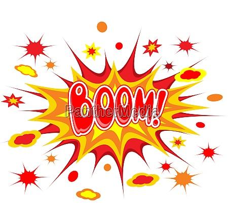 boom comics icon vector illustration