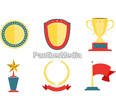 award badges collection achievement and success